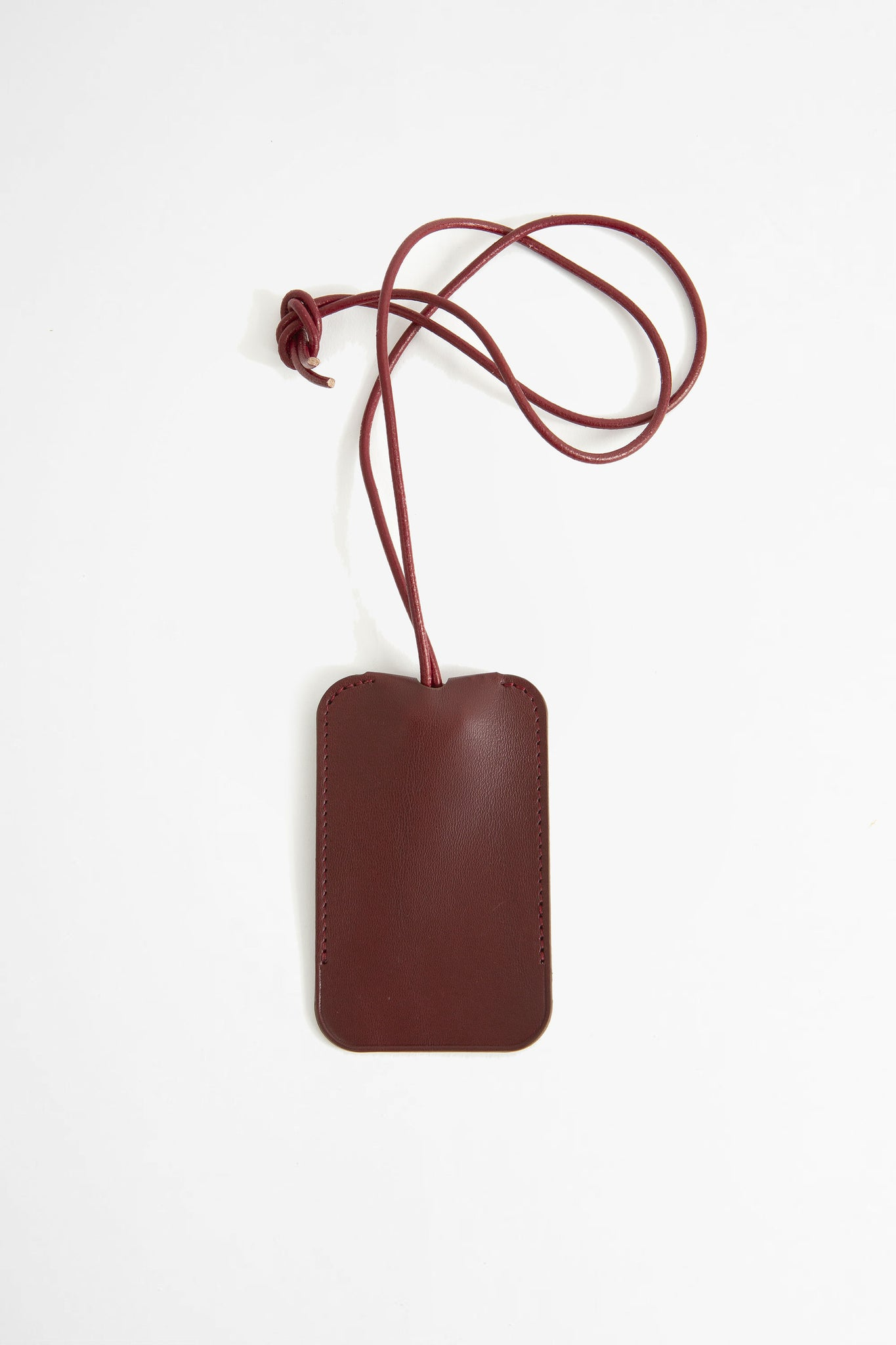 Leather key holder burgundy