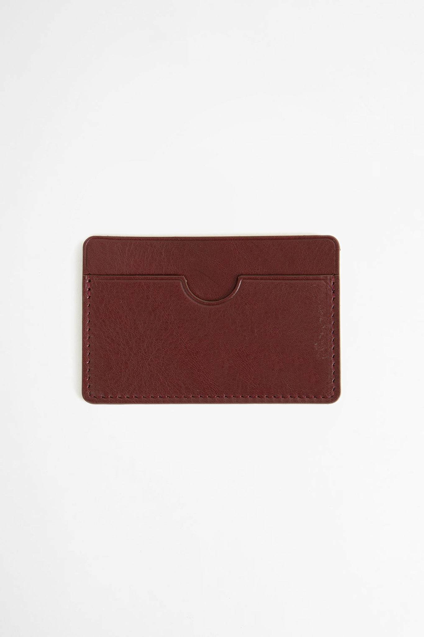Flat card holder burgundy