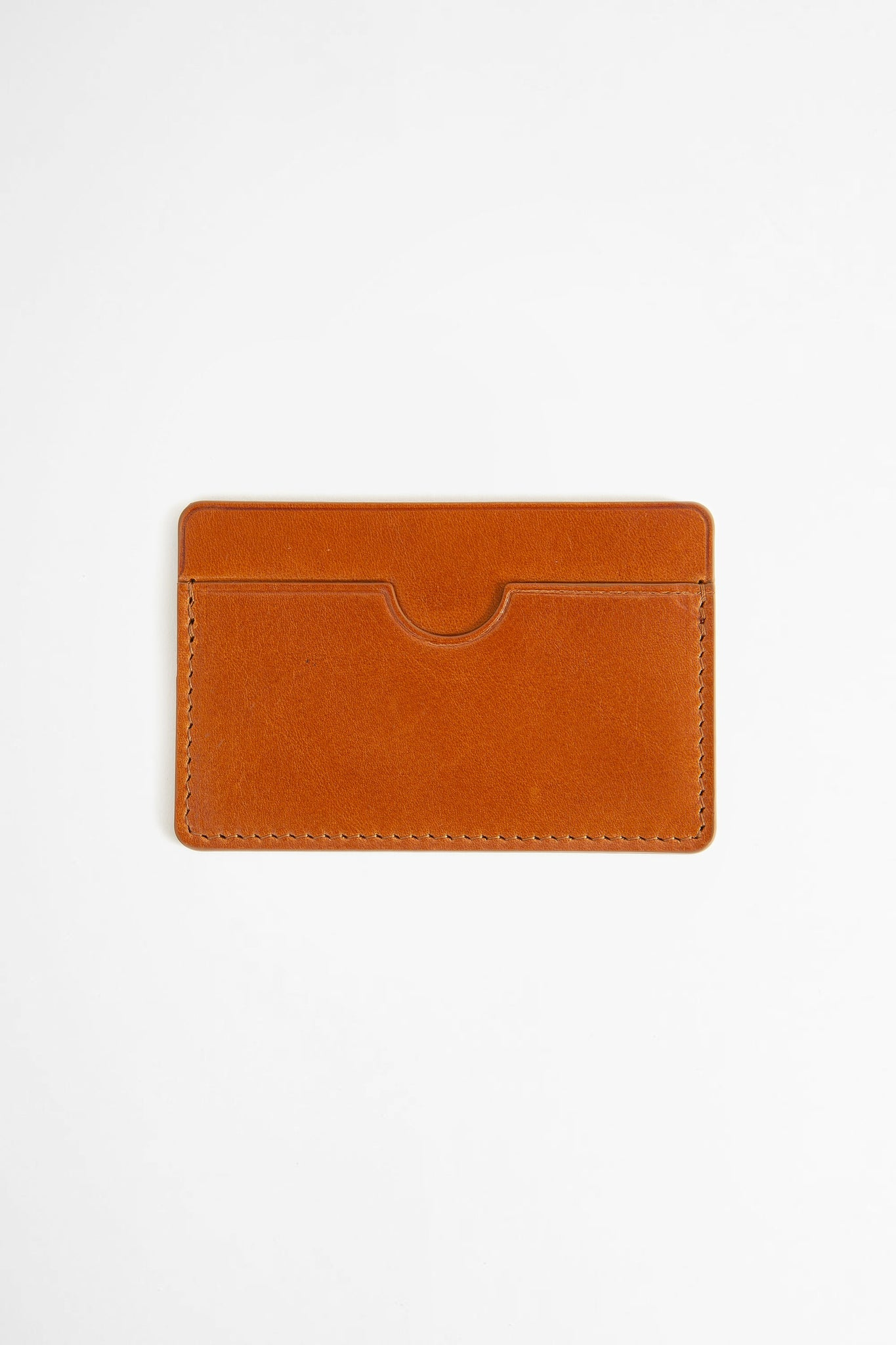 Flat card holder brown