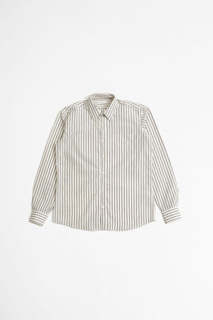Corbino shirt dark brown stripe