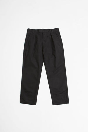 Wide hem trouser workwear cotton drill ink