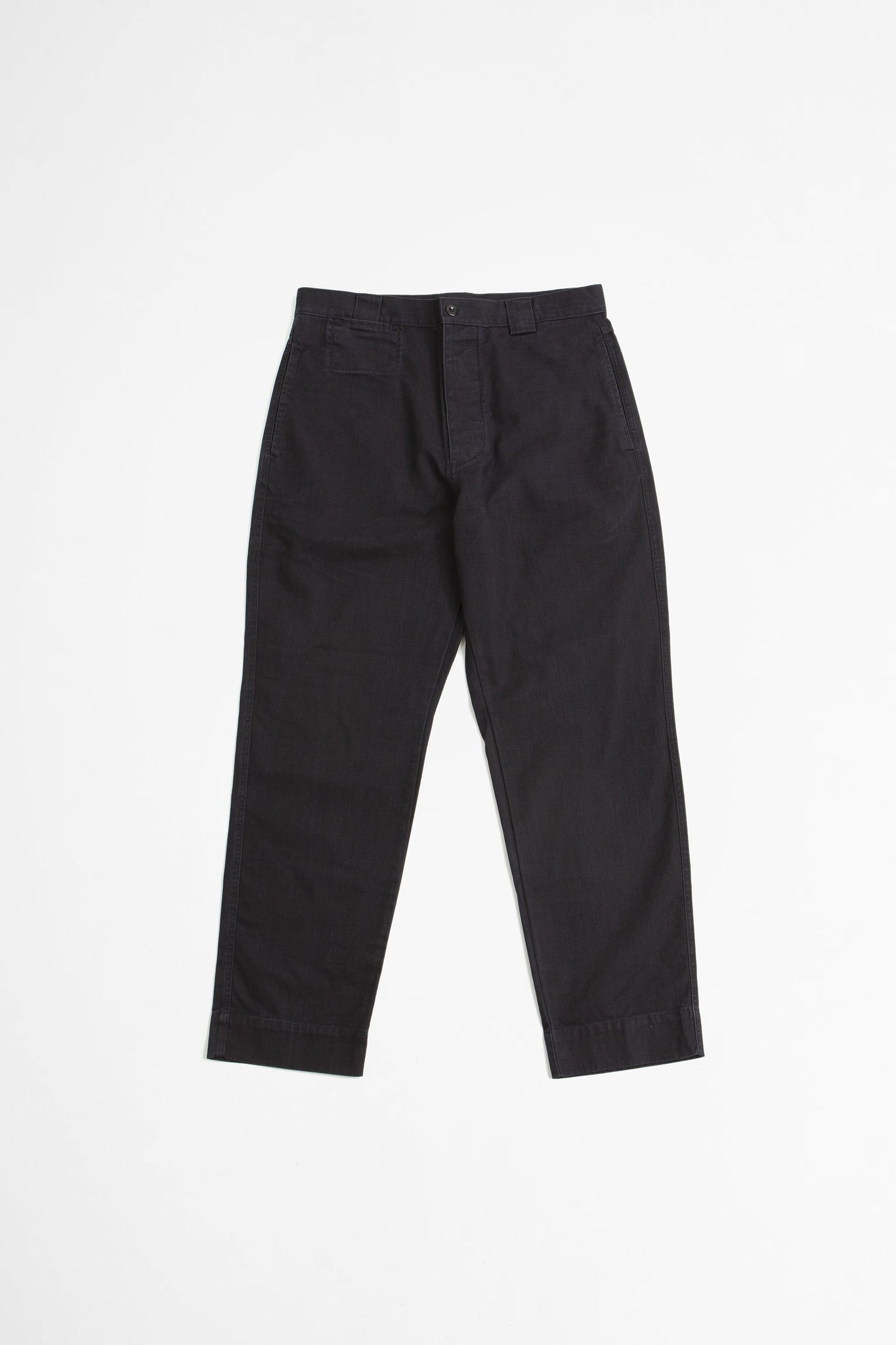 Tapered trouser indigo twill