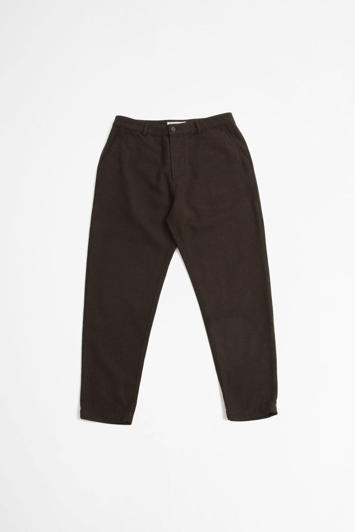 Military chino wool marl II chocolate