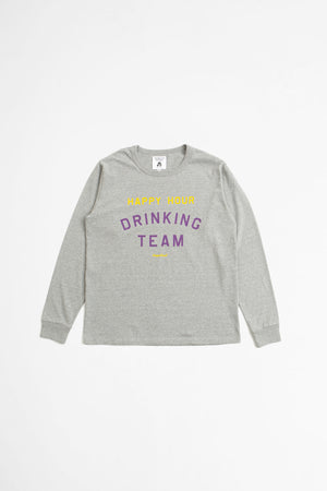 Happy hour drinking team t-shirt heather gray