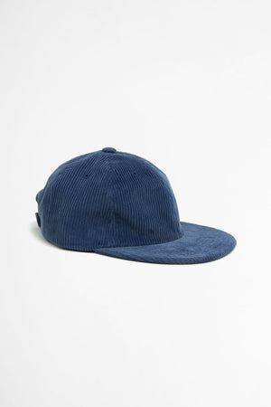 Muzi corduroy six panel cap blue