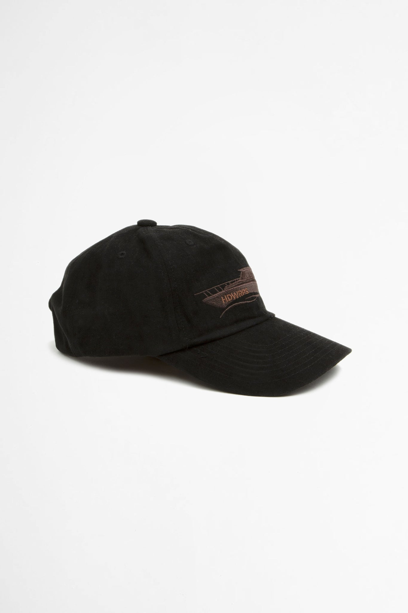 Boat six panel cap black