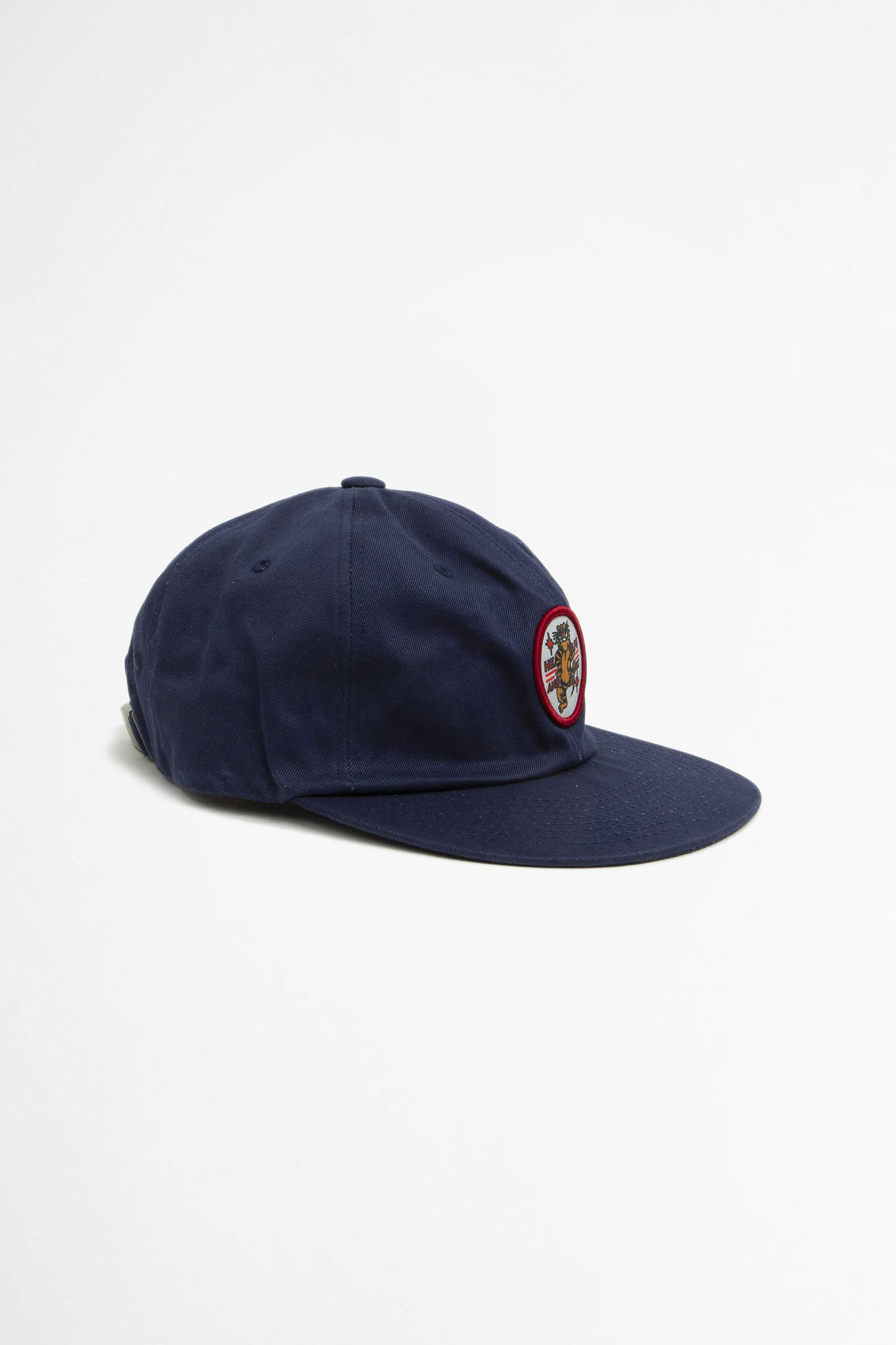 Tiger patch six panel cap navy