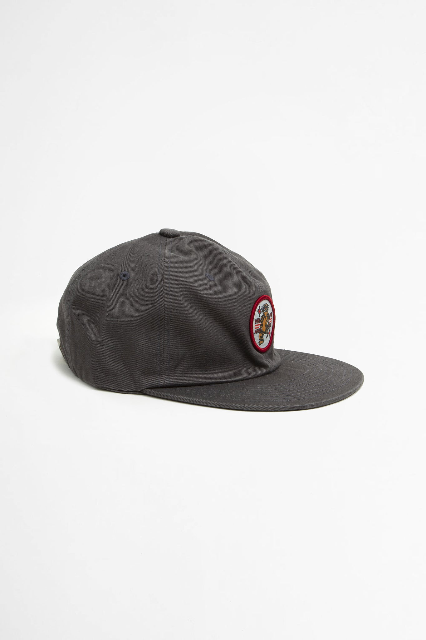Tiger patch six panel cap charcoal