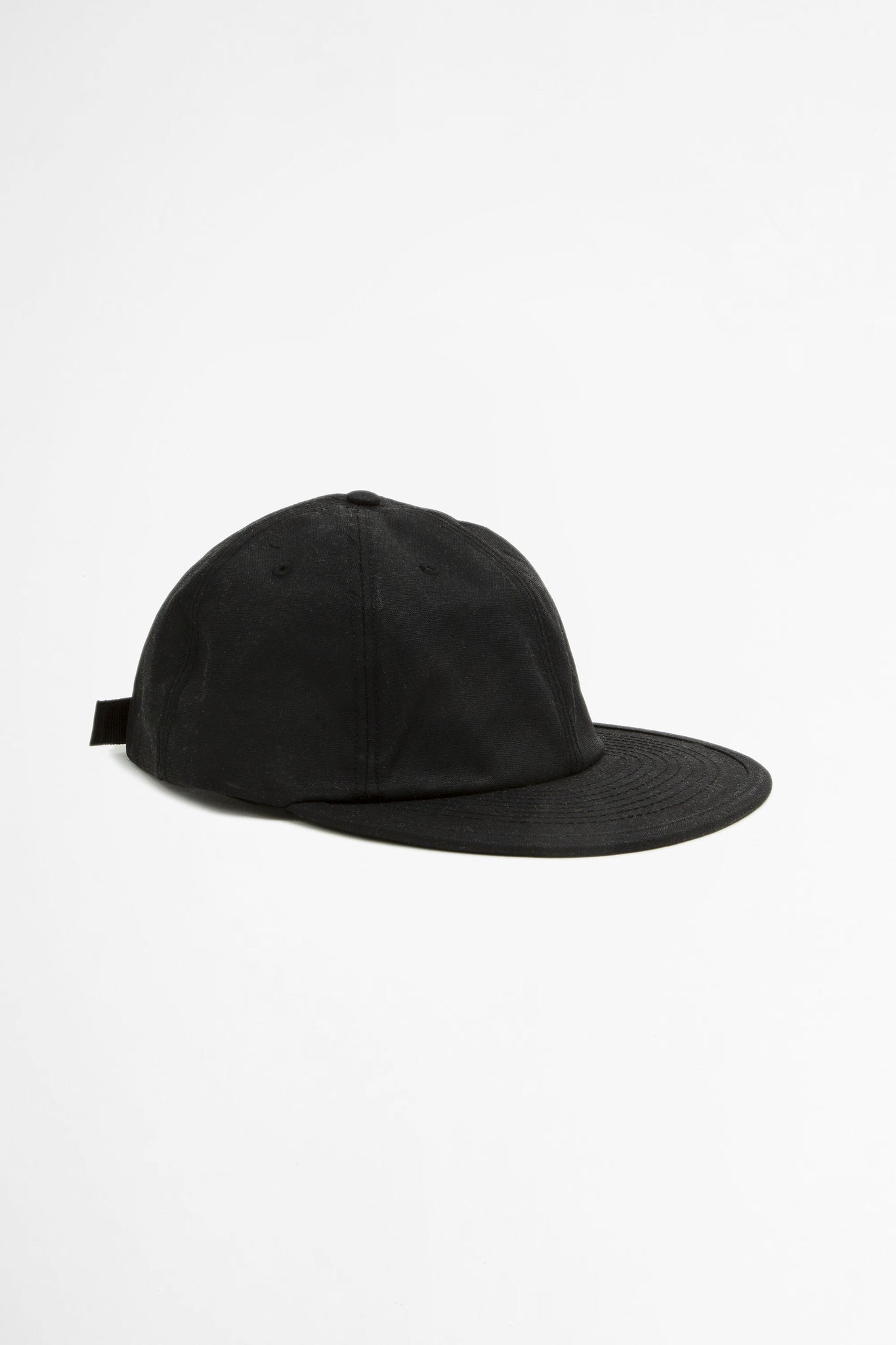 Wax six panel cap black