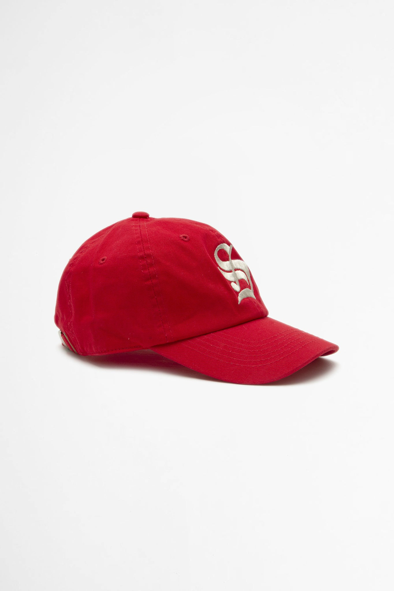 Old english S hat sport red