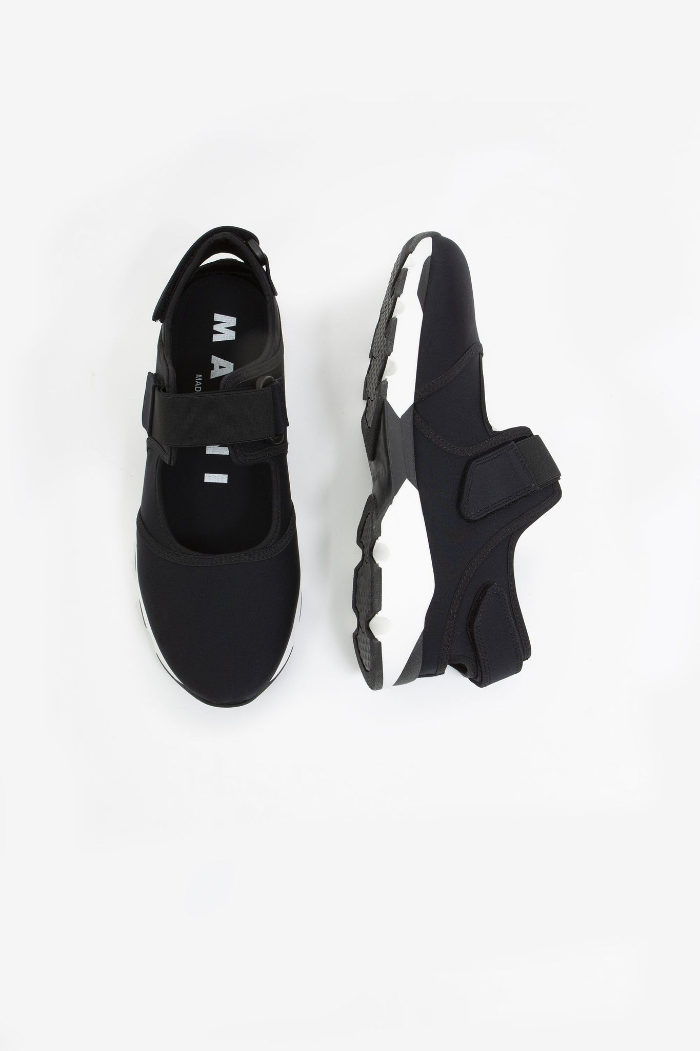 Two-tone sneakers black/white