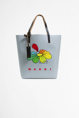 Shopping bag daisy print grey