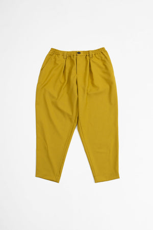 Cropped tailored wool trousers yellow