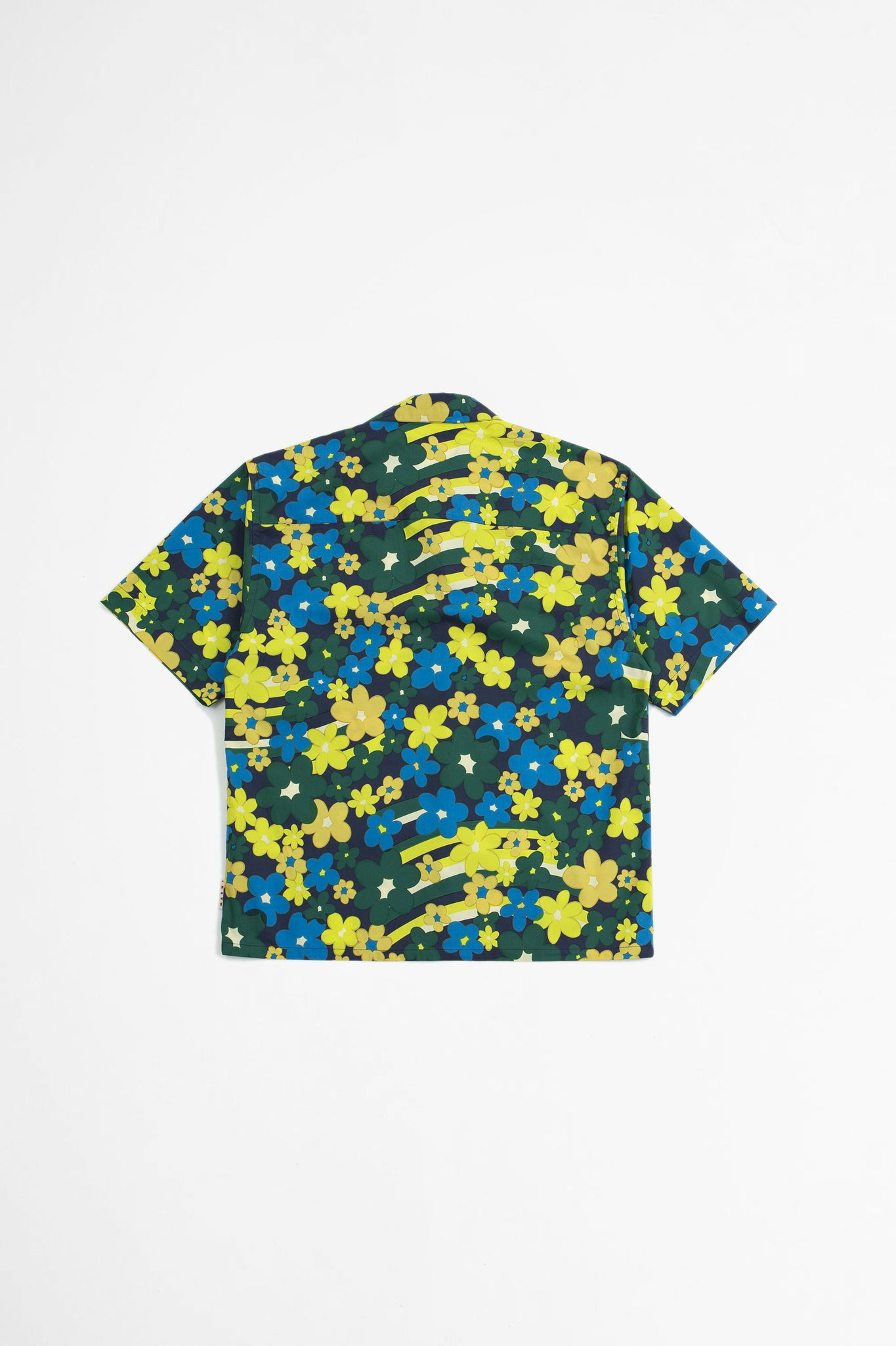 Floral print shirt yellow