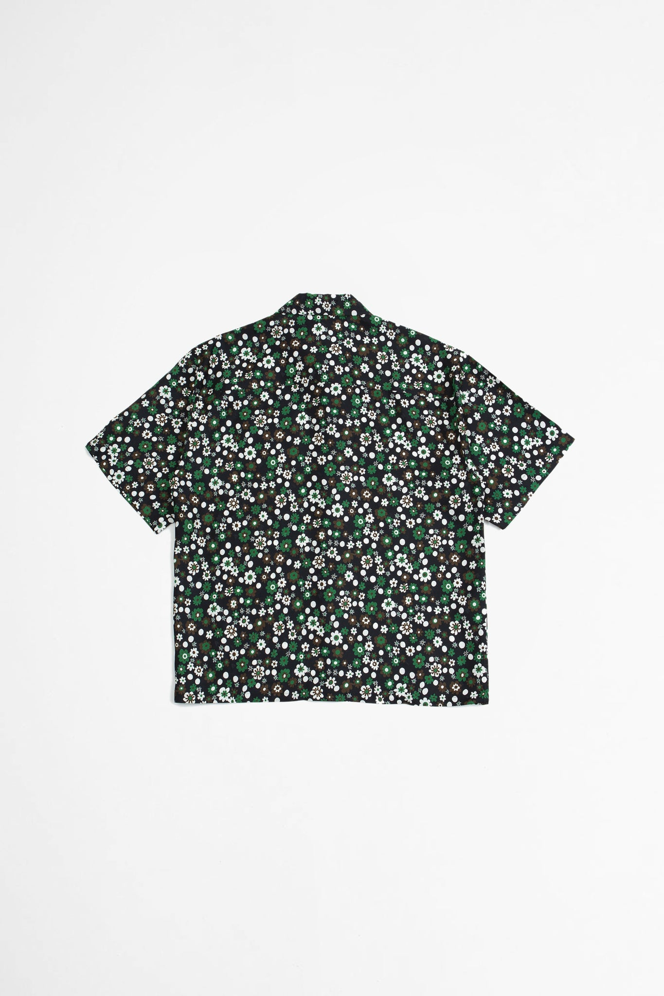 Floral print shirt black/green
