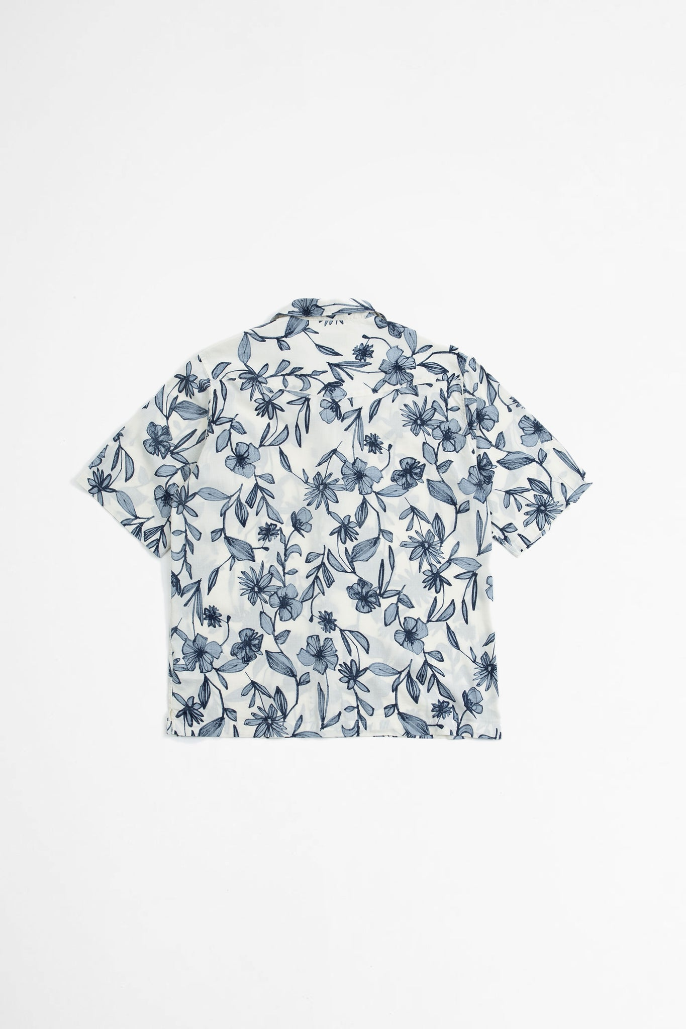 Eren shirt flower print ecru/blue