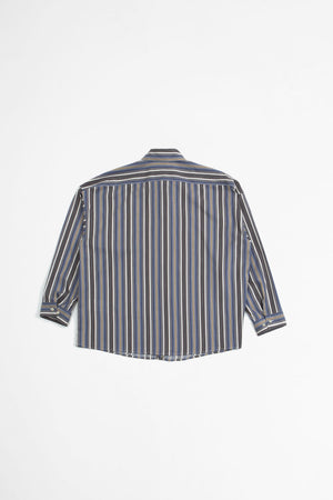 Striped embroidered logo shirt multicolour