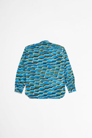Cadogan shirt blue/green print