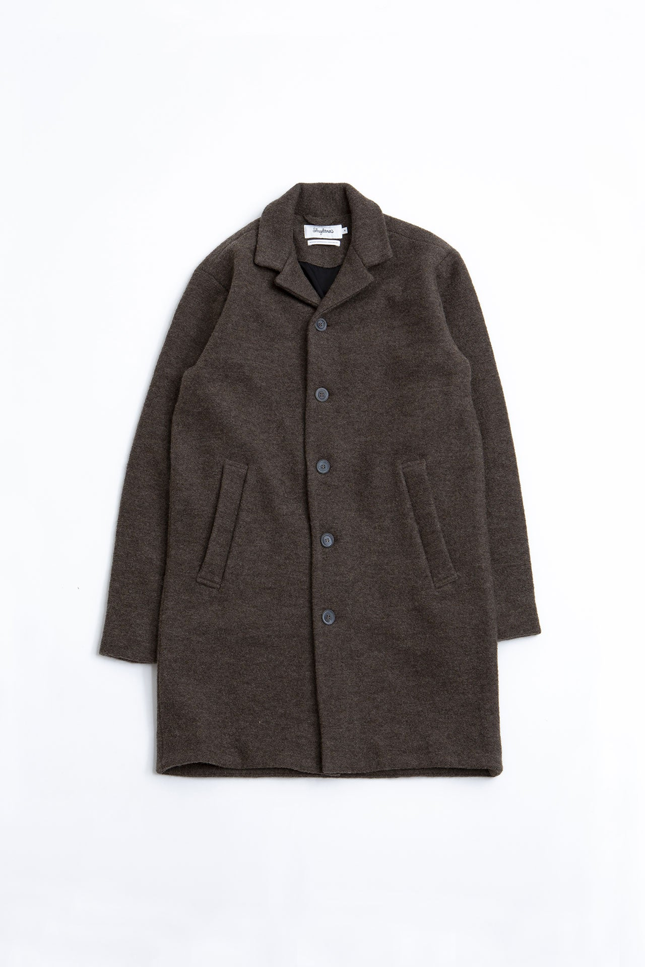 Unconstructed Coat virgin wool walnut