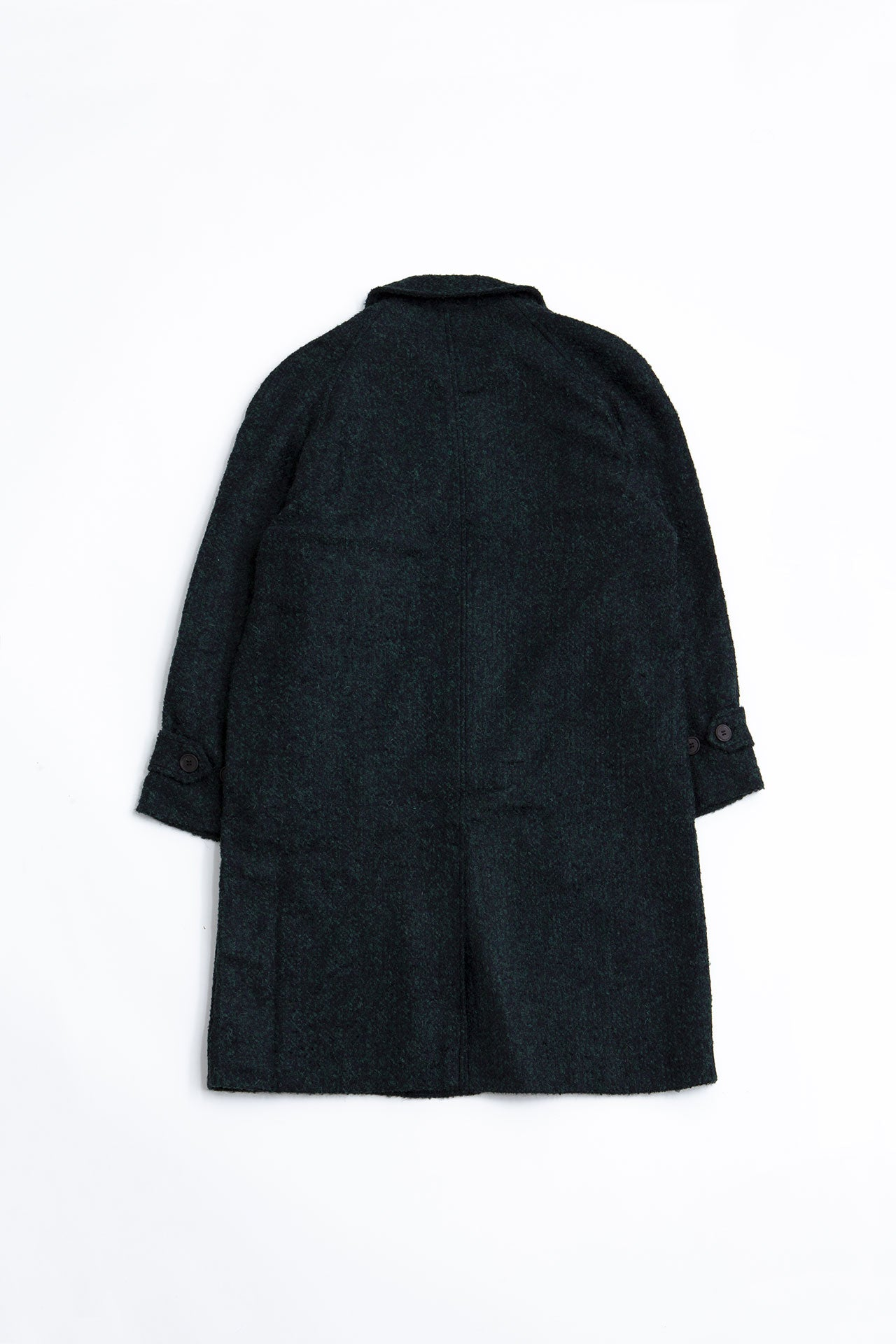 Coat Oversized Boucle melange black/green