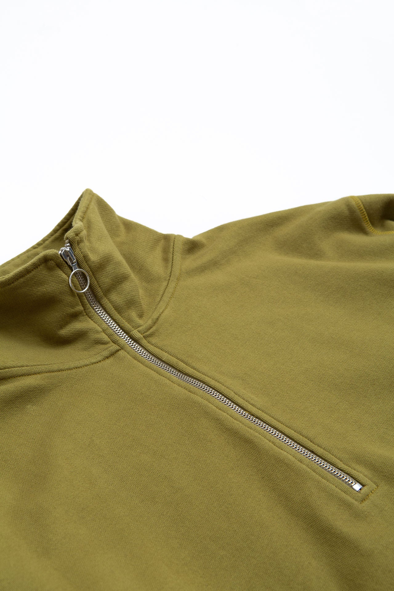 Half zip sweater green lemon