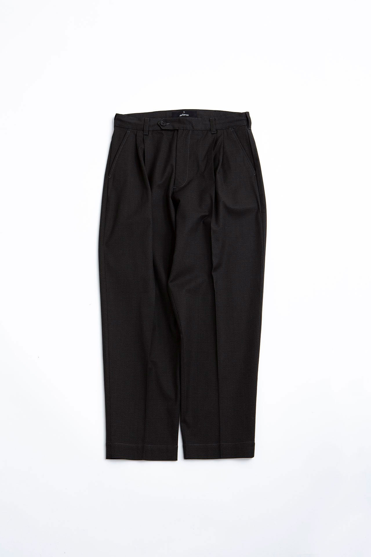 Scene trousers dark check