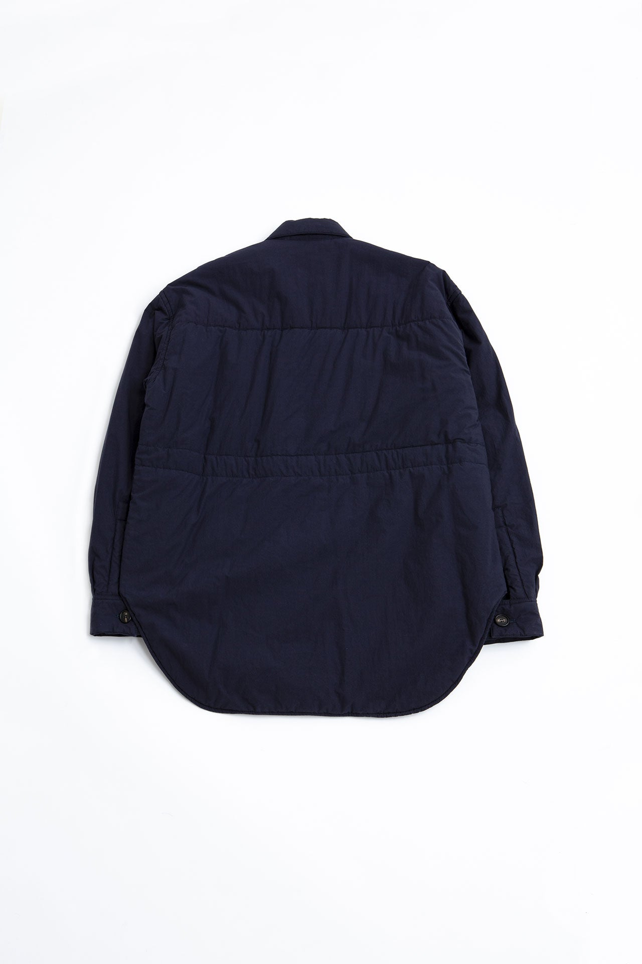 Washed techno poplin shirt blue navy