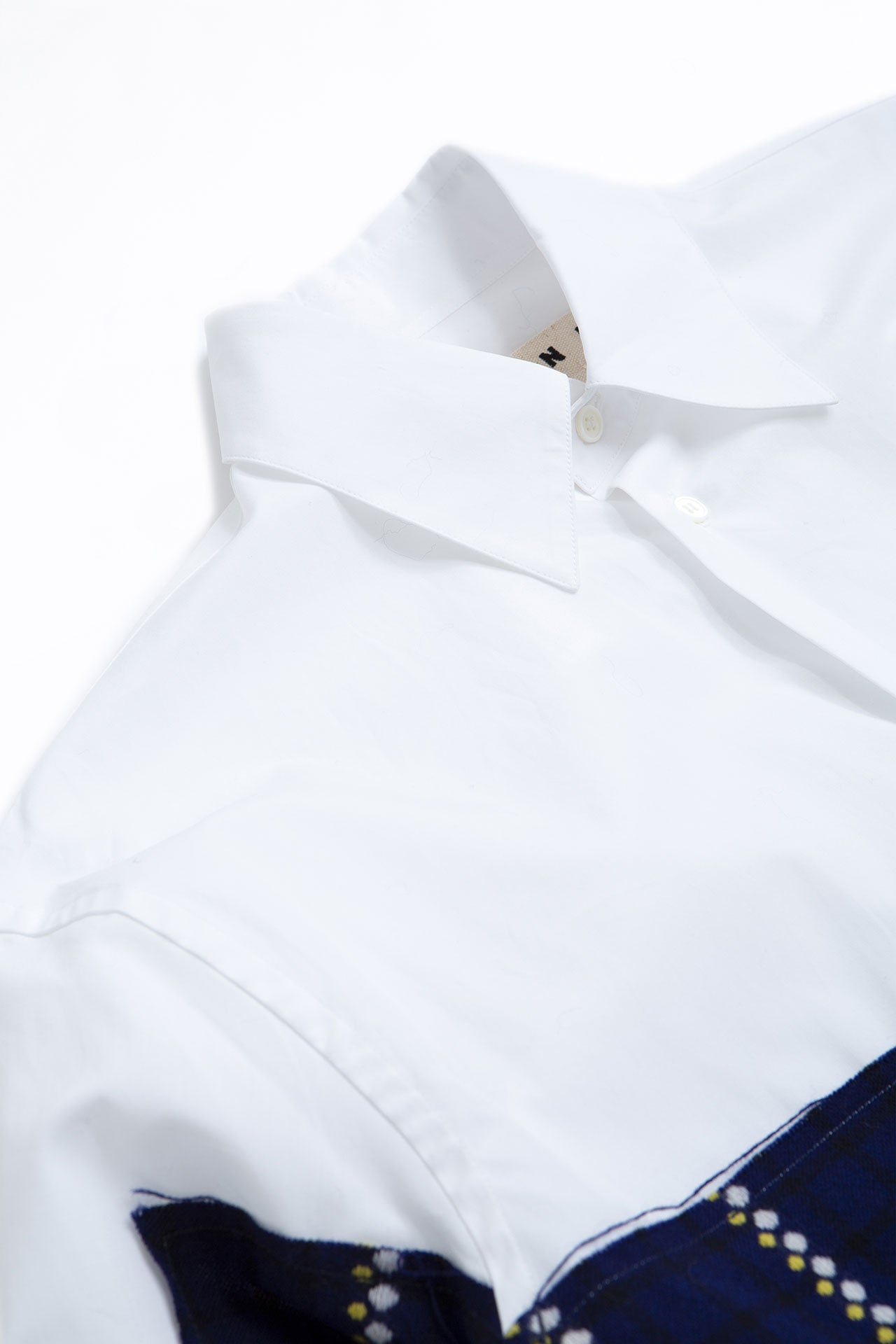 Poplin shirt white/navy