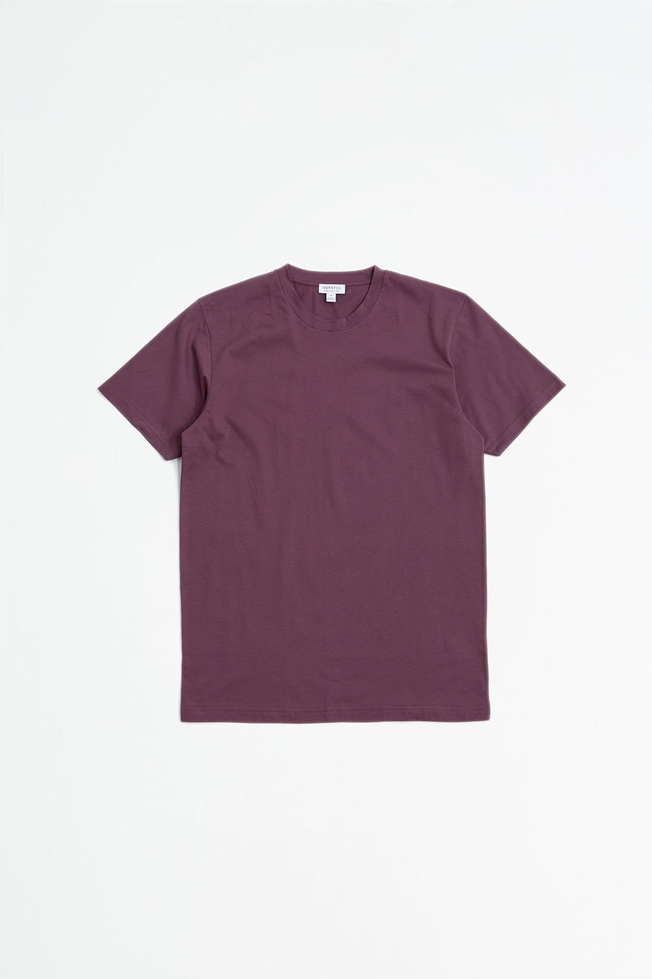 Riviera crew neck t-shirt burgundy