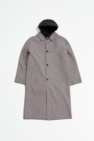 Isolation Coat beige check