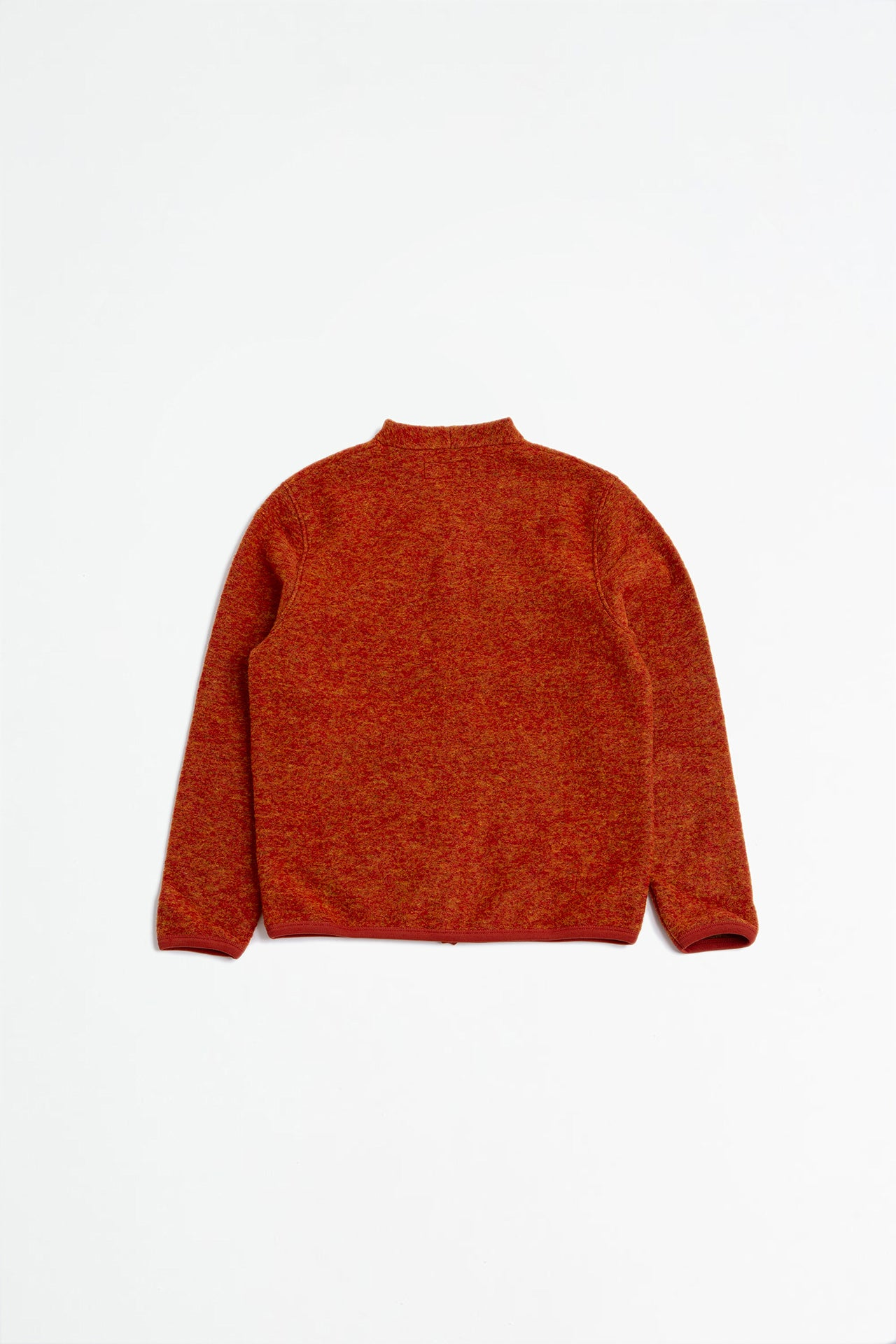 Cardigan wool fleece orange