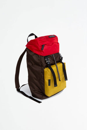 Backpack chestnut/red/cork