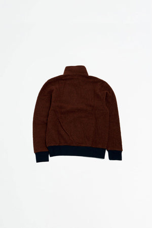 Woolyester Fleece pullover sisu brown