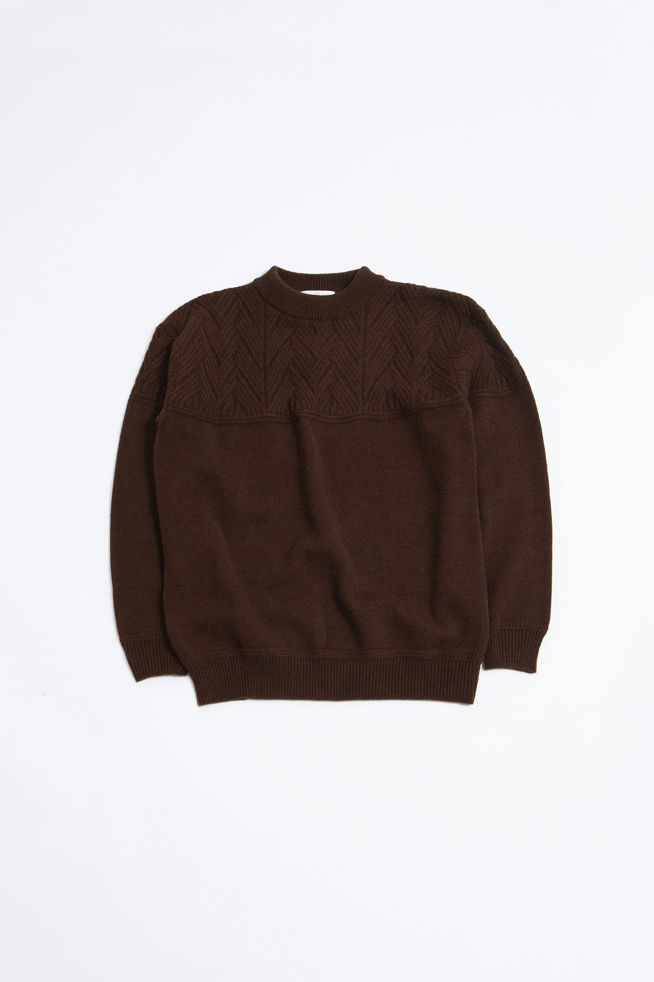 Mock neck lamb knit brown