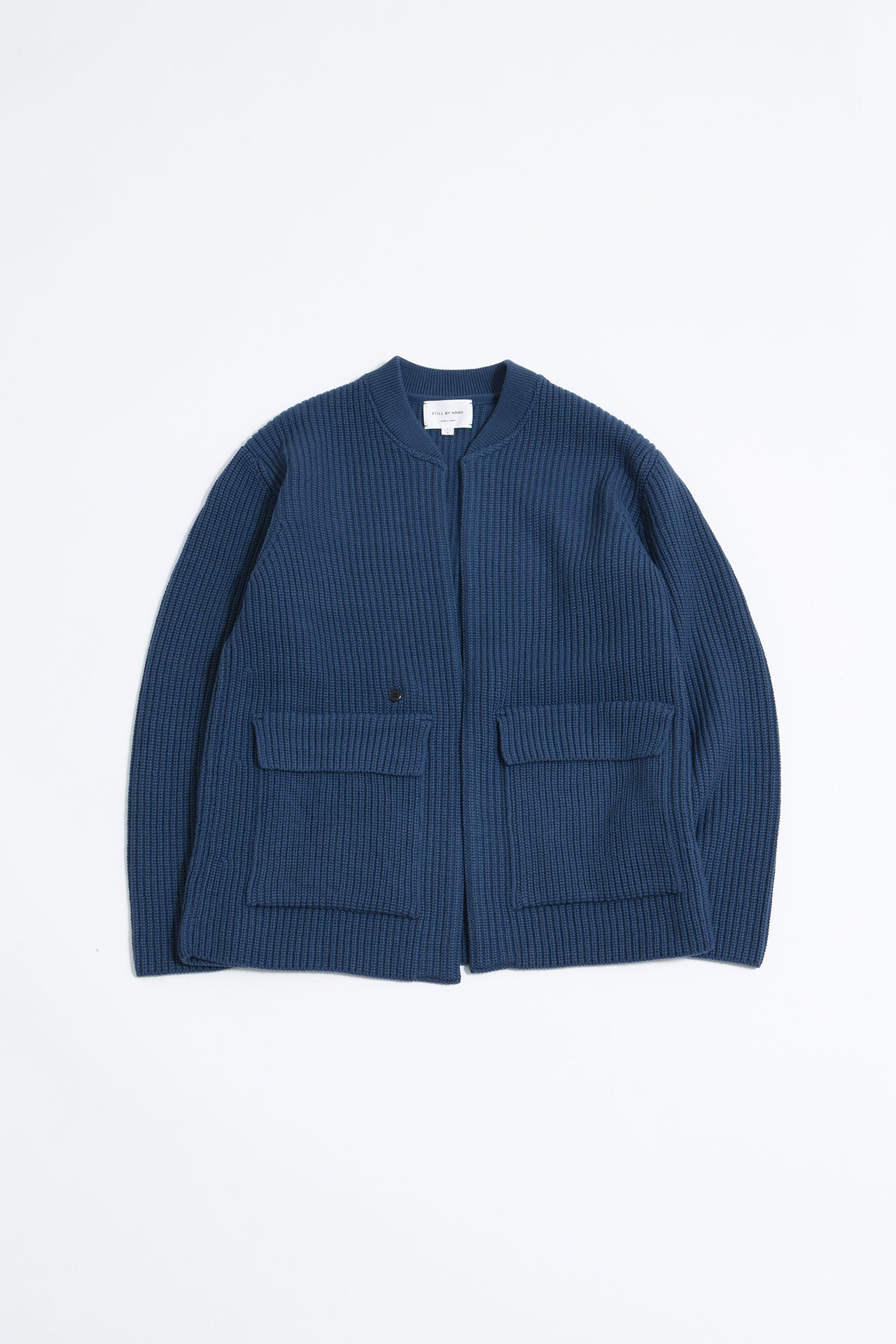 1B knit blouson blue