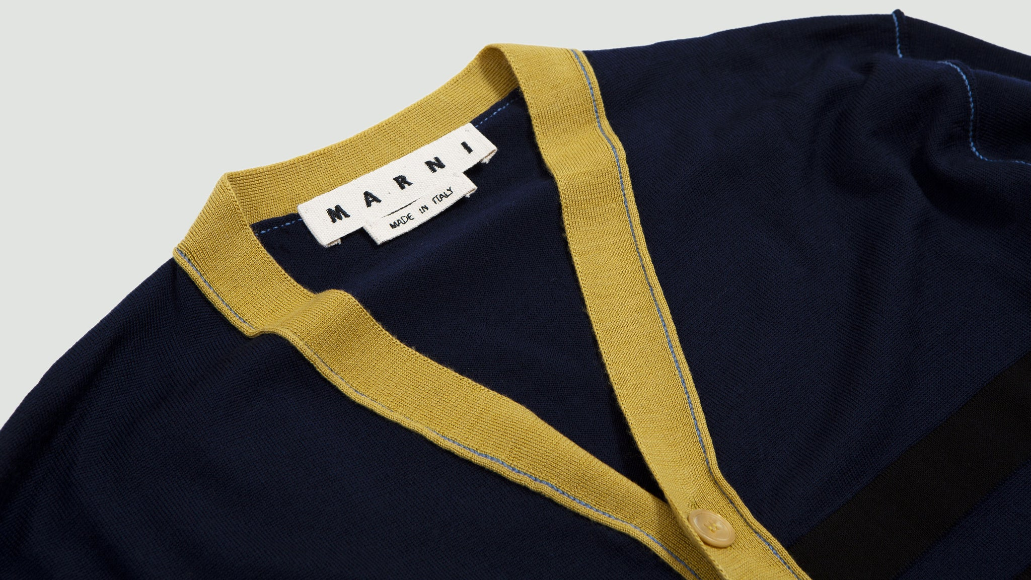 Striped Cardigan navy/black/yellow