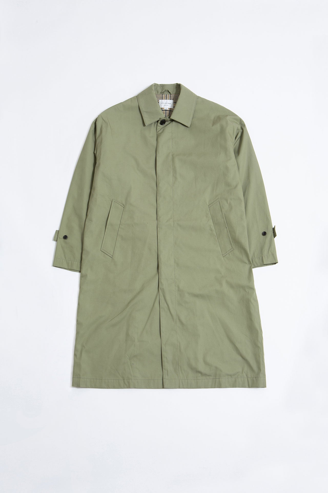 Oversized bal collar coat olive