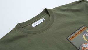 Sweatshirt Oversized patch army green