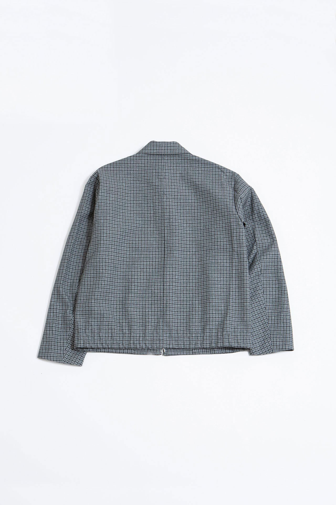 Zip-up blouson grey check
