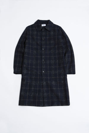 World Coat navy,check