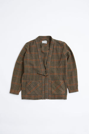 Kohaku cardigan multi check