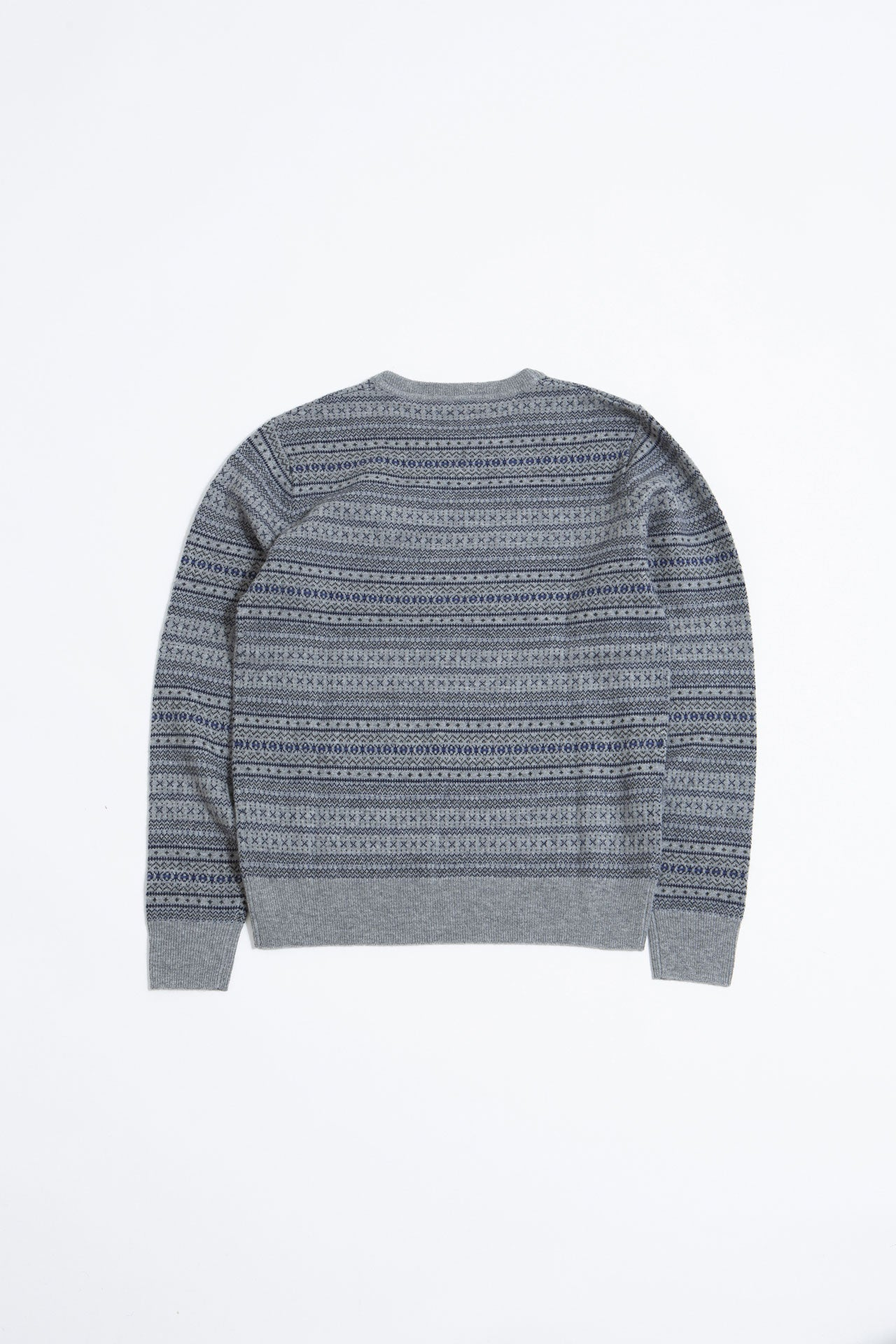 Sigfred Fairisle Cashwool light grey melange