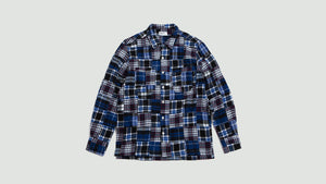 Garage Shirt II brushed patchwork charcoal