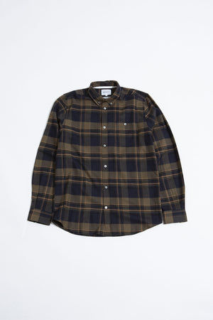 Anton brushed flannel check ivy green