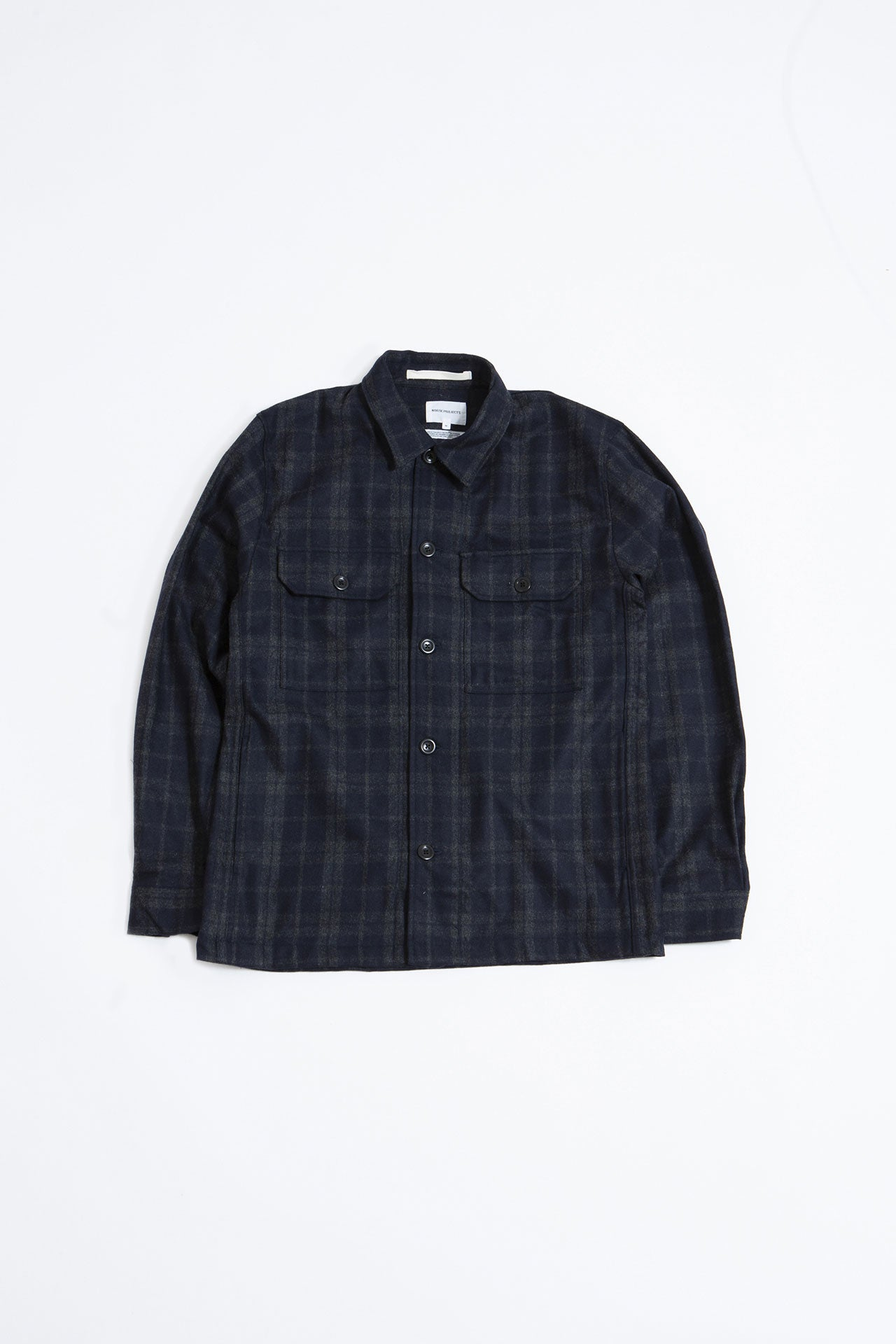 Kyle Wool shirt dark navy
