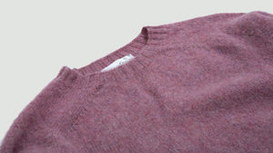 Seamless Cneck brushed woodrose