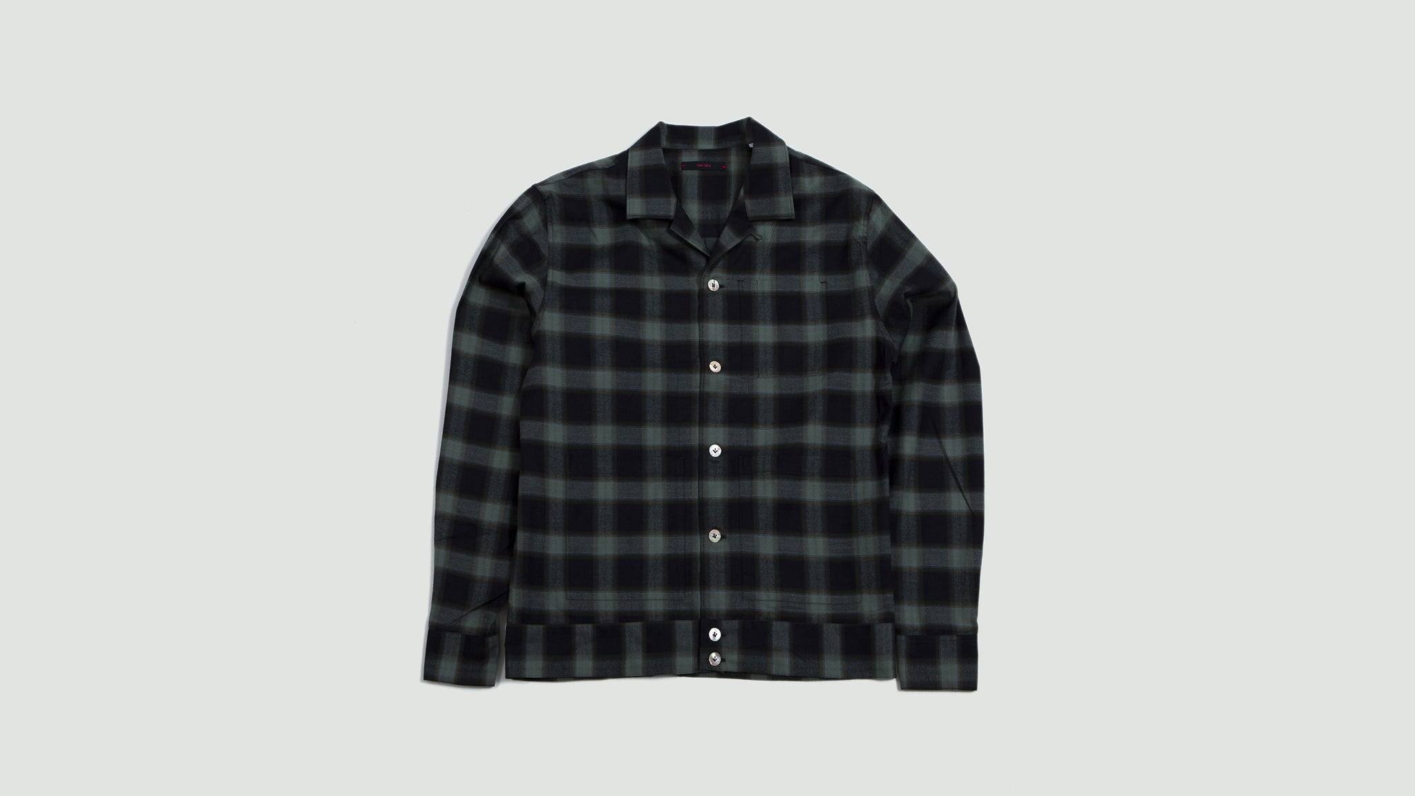 Overshirt Bell green/navy checks