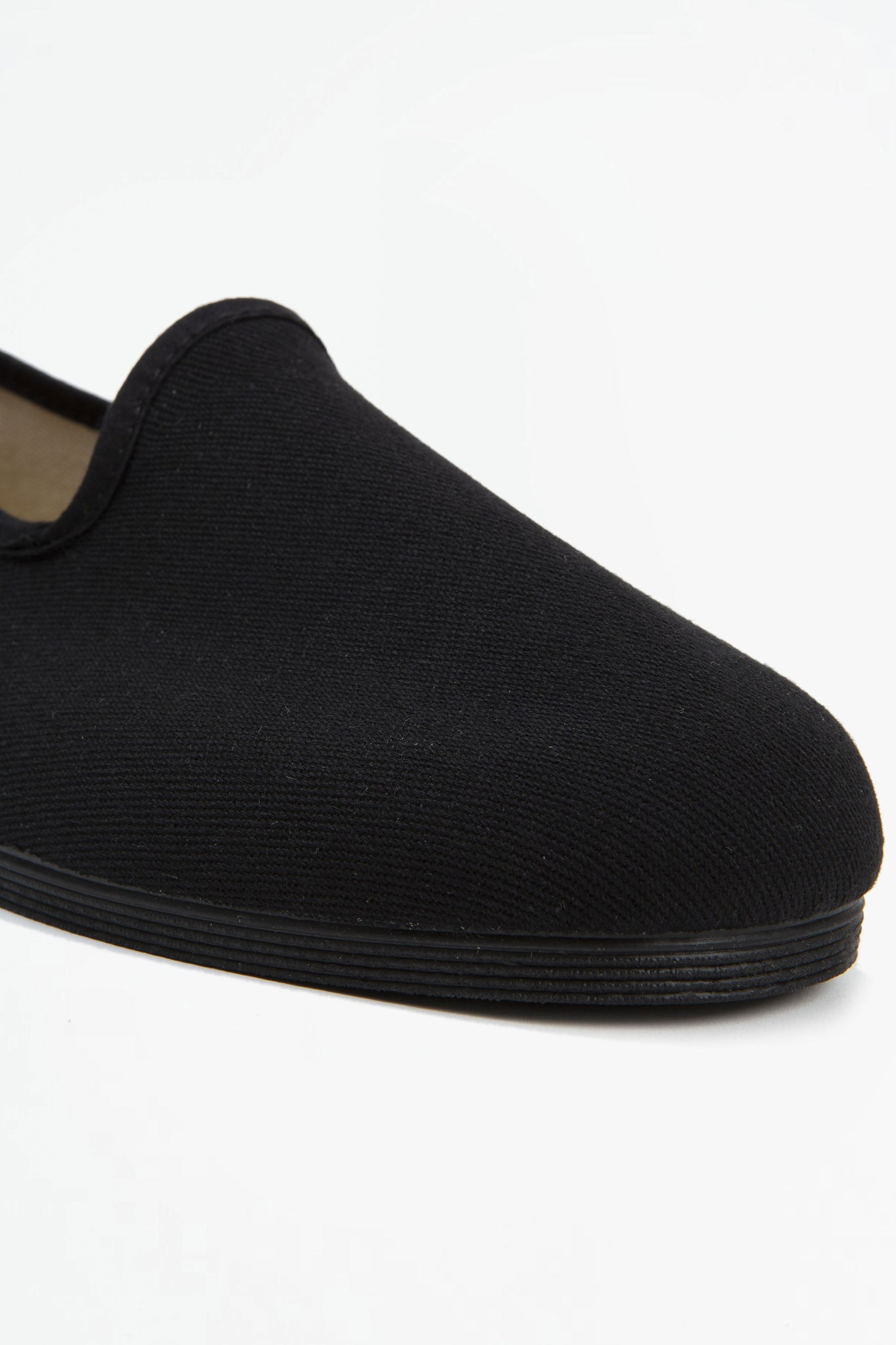Slipper Sigma black cotton