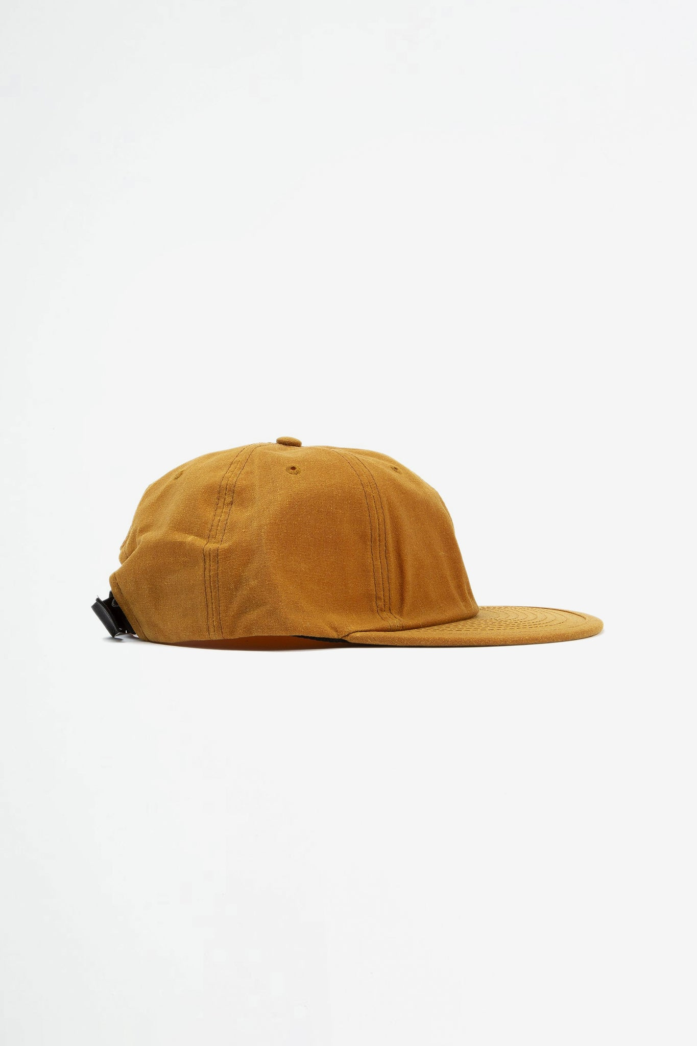 Wax six panel cap mustard