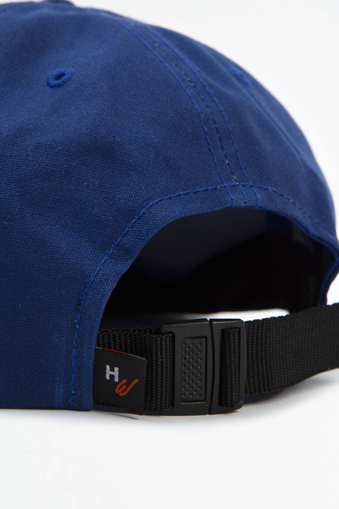 Wax six panel cap blue